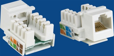 manufactured in China  TM-8017 Cat.6 RJ45 Data keystone jack  factory